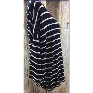 Lemon Tree Tops - All Striped Up Jersey Top- Navy